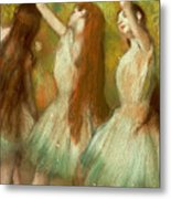 Green Dancers Metal Print
