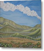 Green Desert Metal Print