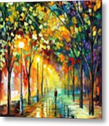 Green Dreams - Palette Knife Oil Painting On Canvas By Leonid Afremov Metal Print