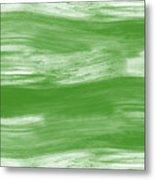 Green Drift- Abstract Art By Linda Woods Metal Print