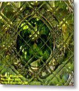 Green Emerald And White Diamond Brooch Distortion Aa H A Metal Print