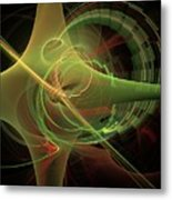 Green Energy Tunnel Metal Print