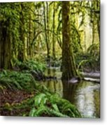 Green Everywhere Metal Print