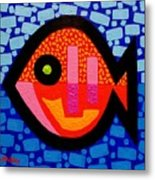 Green Eyed Fish  Metal Print by John  Nolan