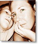 Green Eyed Mom Metal Print