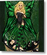 Green Fairy Of Poison Metal Print