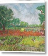 Green Fields Of Spring Metal Print