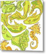 Green Fish Metal Print