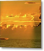 Green Flash Sunset II Metal Print