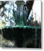 Green Fountain Metal Print