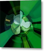 Green Glass Wheels Metal Print