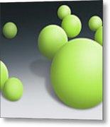 Green Globules Metal Print
