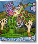 Green Goddesswith Waterfall2 Metal Print