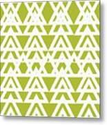 Green Graphic Diamond Pattern Metal Print
