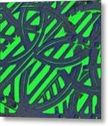 Green Grate Metal Print