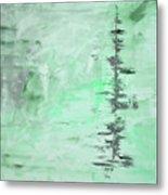 Green Gray Abstract Metal Print