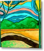 Green Hill Country Metal Print