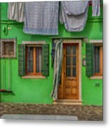 Green House And Hanging Wash_dsc5111_03042017 Metal Print