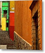 Green House At The End Of The Street Metal Print