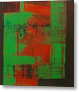 Green Interlock Metal Print