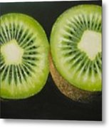 Green Kiwi Oil Painting  Metal Print