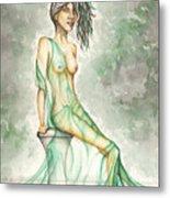 Green Lady  Metal Print by Karen Musick