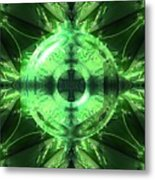 Green Leaf Mild Abstract Metal Print