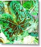 Green Leafmania 1 Metal Print