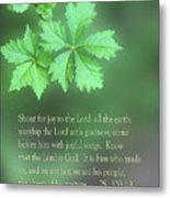 Green Leaves Ps.100 V 1-3 Metal Print