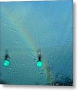 Green Light To A Rainbow Metal Print