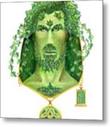 Ivy Green Man Metal Print