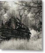 Green Mountain Cabin Metal Print