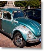Green Old Vintage Volkswagen Car Metal Print