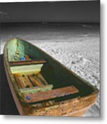 Green Paddle Boat Playa Del Carmen Metal Print
