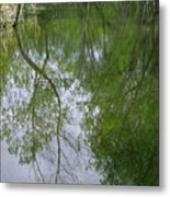 Green Peace - Trees Reflection Metal Print