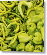 Green Peppers Metal Print