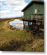 Green Pump House Metal Print