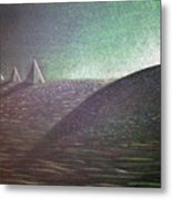 Green Pyramid B Metal Print