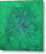 Green Radation With Violet  Metal Print