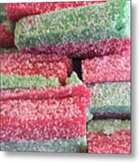 Green Red Sugary Sweet Metal Print