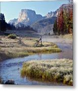 Green River, Frosty Morning Metal Print