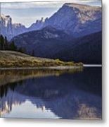 Green River Lake Fly-fisherman Metal Print