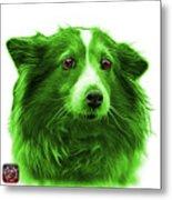 Green Shetland Sheepdog Dog Art 9973 - Wb Metal Print