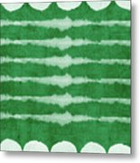 Green Shibori 3- Art By Linda Woods Metal Print