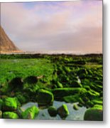 Green Soul Of The Cliff Metal Print