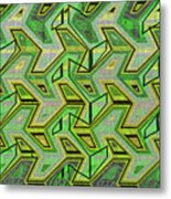 Green Steps Abstract Metal Print