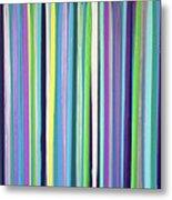 Green Stripe Metal Print