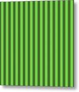 Green Striped Pattern Design Metal Print