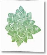 Green Succulent 1- Art By Linda Woods Metal Print