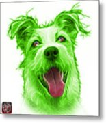 Green Terrier Mix 2989 - Wb Metal Print
